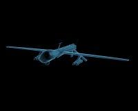 食肉动物的寄生虫飞机 库存照片