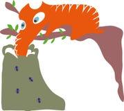 食蚁兽动画片 图库摄影