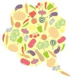 素食讲话泡影 库存图片