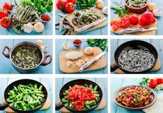 食谱由步食物的准备step免版税库存照片