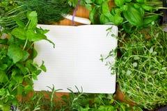 食谱的空白笔记本 免版税库存图片