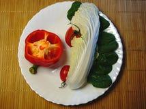 素食饮食食物 免版税图库摄影