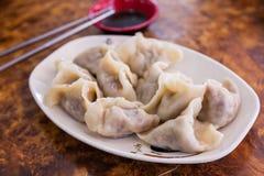 素食主义者中国人饺子 库存照片