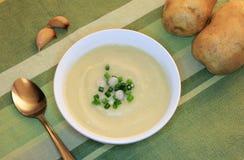 素食主义者大蒜和土豆汤 库存图片