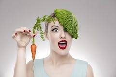 素食主义者女孩 免版税库存照片