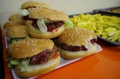 素食主义者汉堡 免版税库存照片