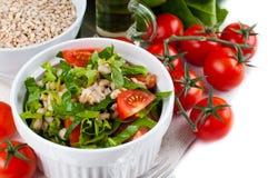 素食主义者烹调,食物背景 免版税库存照片