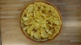 素食主义者苹果蛋糕 库存图片