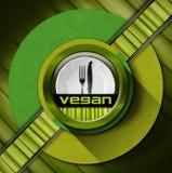 素食主义者菜单设计 库存图片