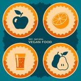 素食主义者食物海报设计 免版税库存图片