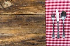 餐位餐具表 免版税库存照片