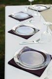 餐位餐具表 图库摄影
