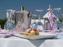 餐位餐具表 免版税库存图片