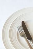 餐位餐具 免版税图库摄影