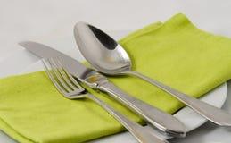 餐位餐具 免版税库存图片
