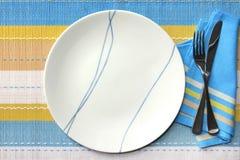 餐位餐具 库存图片