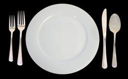 餐位餐具 免版税库存照片