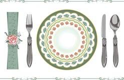 餐位餐具 皇族释放例证