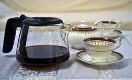 餐具咖啡 免版税库存图片