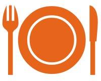 餐具符号 免版税库存照片
