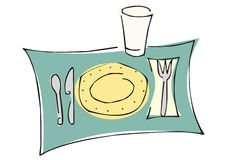 餐具 免版税库存图片