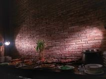 餐厅是非常浪漫的 免版税图库摄影