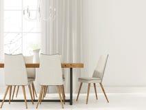 餐厅白色内部  免版税图库摄影