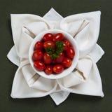餐巾上升了用蕃茄 库存图片