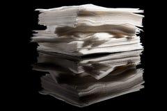 餐巾堆 库存图片