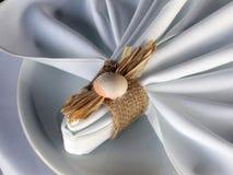 餐巾海洋主题 图库摄影