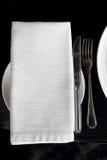 餐巾银器 库存照片