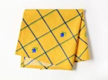 餐巾黄色 免版税库存照片