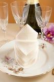餐巾origami 免版税库存图片