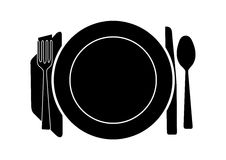 餐桌 皇族释放例证
