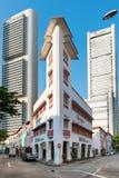 餐馆、酒吧和迪斯科街道在新加坡 库存图片
