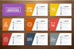 餐馆业卡片模板 免版税图库摄影