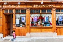 餐馆伊斯帕尼奥拉岛在爱丁堡,苏格兰 库存图片