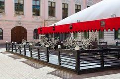 餐馆光泽咖啡馆,涅夫斯基远景, 17,圣彼德堡,俄罗斯 免版税库存图片