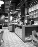 餐馆内部在深圳 库存照片