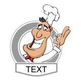 餐馆厨师商标 免版税库存图片