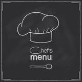 餐馆厨师菜单设计 库存图片