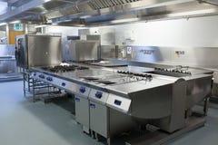 餐馆厨房的图片 免版税库存照片