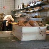 餐馆厨房的看法 图库摄影