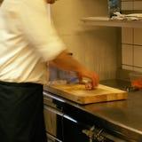 餐馆厨房的看法 库存照片