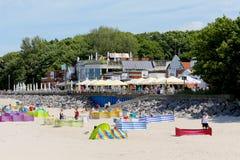 餐馆和咖啡馆海滩 库存图片