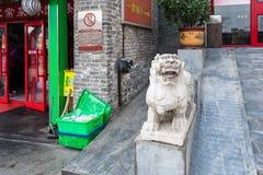 餐馆和街道装饰在北京 免版税库存照片
