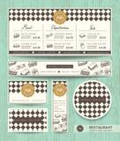 餐馆咖啡馆三明治菜单设计模板 免版税库存照片