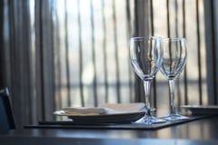 餐馆咖啡馆酒吧在豪华旅馆里 免版税库存照片