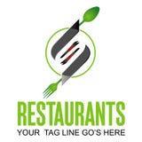 餐馆商标设计 库存例证