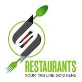 餐馆商标设计 向量例证